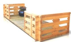 Veranda houten tuinhuis blokhutten 300cm