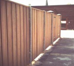 Cloture bois beton 200x190cm