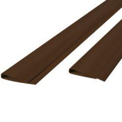 Profil clôture en canisse PVC marron 200cm