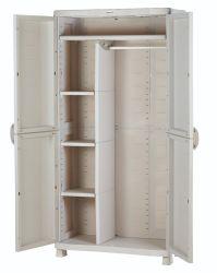 Kunststof opbergkast bezemkast grijs 90x184cm