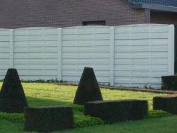 Betonzaun Woodstone grau 200x231cm doppelseitig