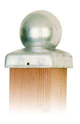 Tapa poste de madera 121x121mm galvanizado bola