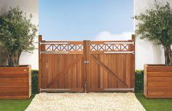 Puerta jardin Bangkirai 300x180cm