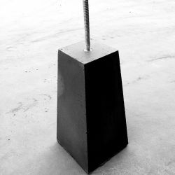 Betonpoer paalhouder tuinveranda overkapping 120x120mm