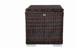Baul II 95 x 95 x 80cm - marrón - ratán sintético redondo