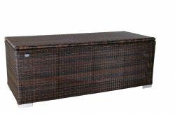 Baul III 180 x 75 x 65cm - marrón - ratán sintético redondo
