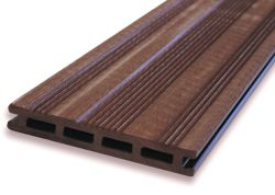 Tarima exterior sintética composite marrón 360cm (21x145mm)