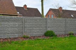 Betonzaun Rockmotiv grau 200x231cm doppelseitig