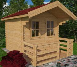 Cabanne abri de jardin en bois Derby 3x3m