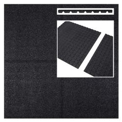 Rubber tiles black 500x500x45mm (m2)
