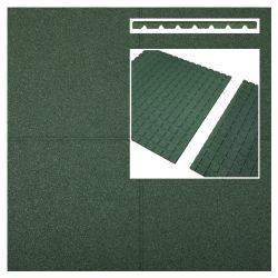 Fallschutzmatten Fallschutzplatten grün 1000x1000x25mm (m2)