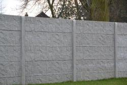 Betonzaun Stepstone grau 200x193cm doppelseitig