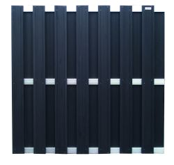 Fence panel WPC 180x180cm anthracite