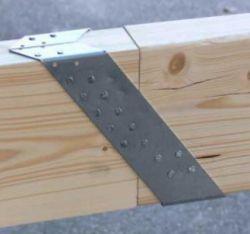 Gordinglas 71x221mm houtverbinding, verzinkt