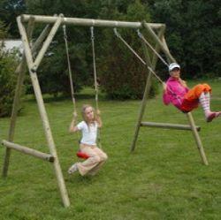 Wooden playground set swingset Ellis
