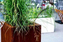 Square planters corten steel 80x80x80cm