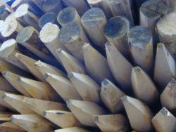 Kastanjehouten palen kastanjepalen ø12x250cm