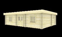 Chalet soins informels en bois 10,3x7,3m (70mm)