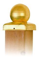 Chapeau de poteau boule laiton 91mm
