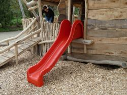 Slide for Swing Set red 210cm polyester