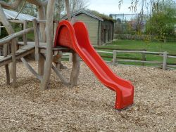 Slide for Swing Set red 365cm polyester