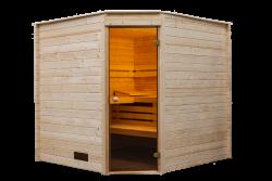 Sauna binnensauna hoekmodel 215x215cm / 40mm