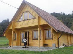 Houten huis blokhut lodge Helsingborg 8.8x7.8m (94mm)