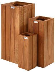Jardineras de madera dura cuadrada 70x30x30cm