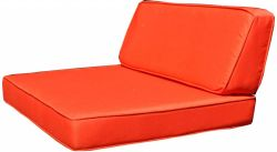 Cushion covers for poly rattan loungeset London orange