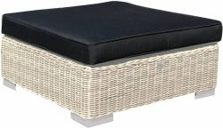 Cushion for poly rattan hocker London blue