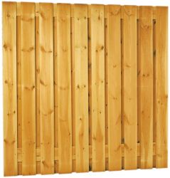 Wooden fencing 17planks