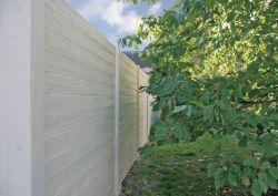 Betonzaun Holzmotiv grau 200x231cm doppelseitig