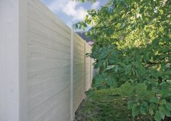 Betonzaun Holzmotiv grau 200x231cm einseitig