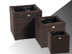 Wicker planter Piazza brown