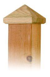 Paalornament hout voor tuinpaal piramide 100mm