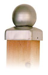 Chapeau de poteau  boule inox 71mm