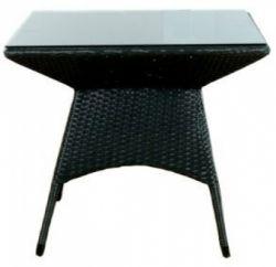 Table de jardin résine tressée Bruxelles 3 noir
