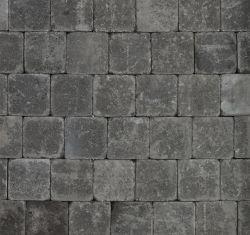 Pave en beton noir tambouriné 15x15x6cm (m2)