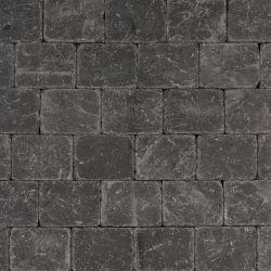 Koppelstones trommelstenen antraciet, 15x20x6cm, per m2