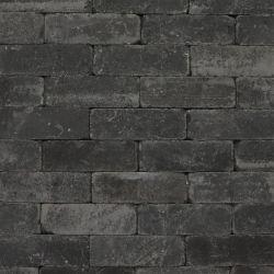 Dikformaat sierbestrating trommelstenen antraciet 21x7x7cm per m2