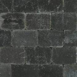 Pavés tambourinés noir 20x30x6cm (m2)