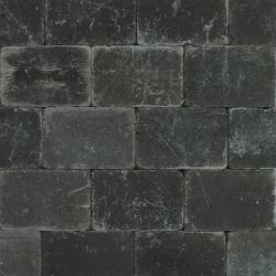 Cobblestones variegated, black 20x30x6cm (m2)