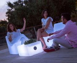 Table de Jardin Ibiza design 45x59x30cm