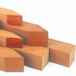 Poste de madera dura bangkirai 7x7x275cm
