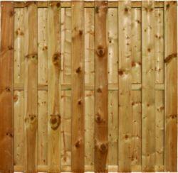 Holzzaun Sichtschutzzaun 15 Dielen 180x180cm