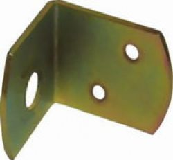 L-brackets, yellow galvanized