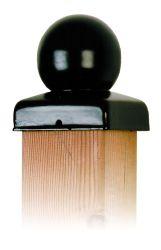 Chapeau de poteau boule noir 71mm