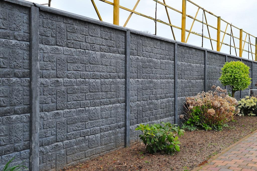 Betonschutting brickstone enkelzijdig 200x193cm