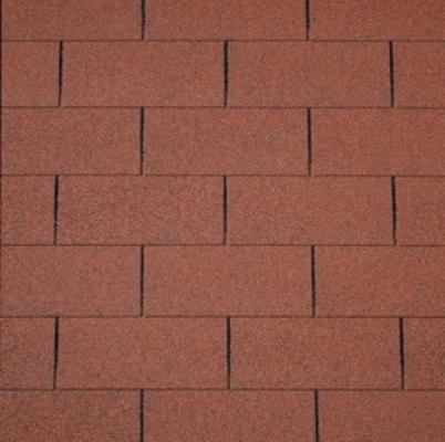 Dachschindeln rot Gartenhaus Holzhaus 3m2