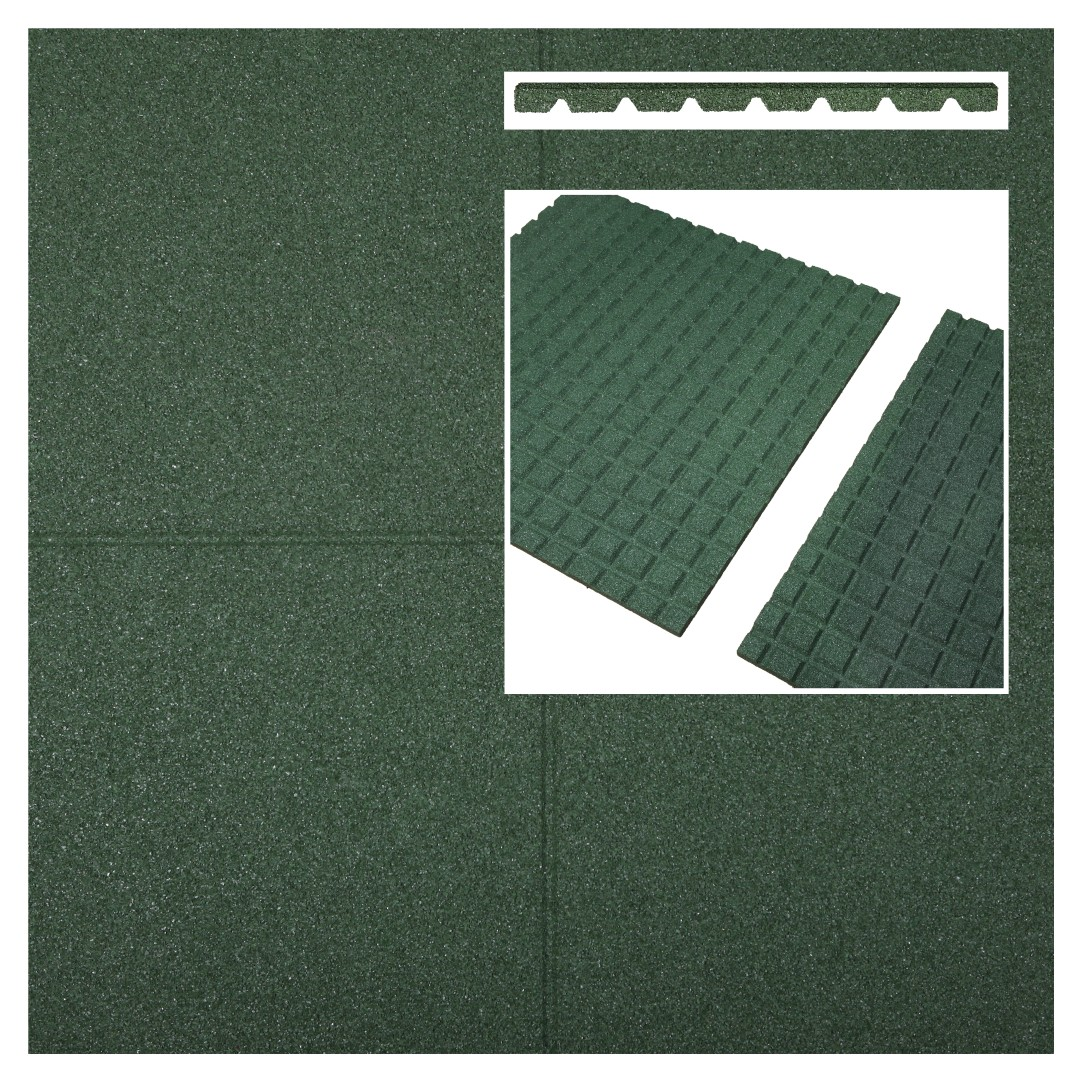 Fallschutzmatten grün 500x500x25mm